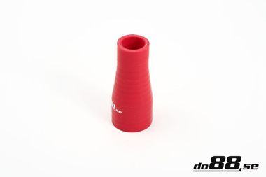 Durite silicone réduction Rouge 1 - 1,375'' (25-35mm)